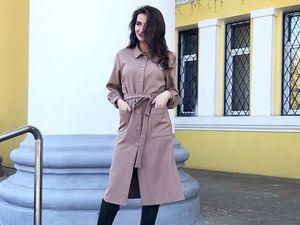 Разбираем тренды осени — стильное платье-халат (фото+видео)!. Ярмарка Мастеров - ручная работа, handmade.