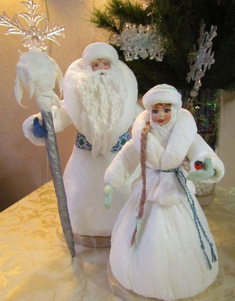 рождество, борода из ваты