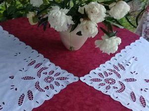 Винтажные шторки-задергушки с вышивкой. Ярмарка Мастеров - ручная работа, handmade.