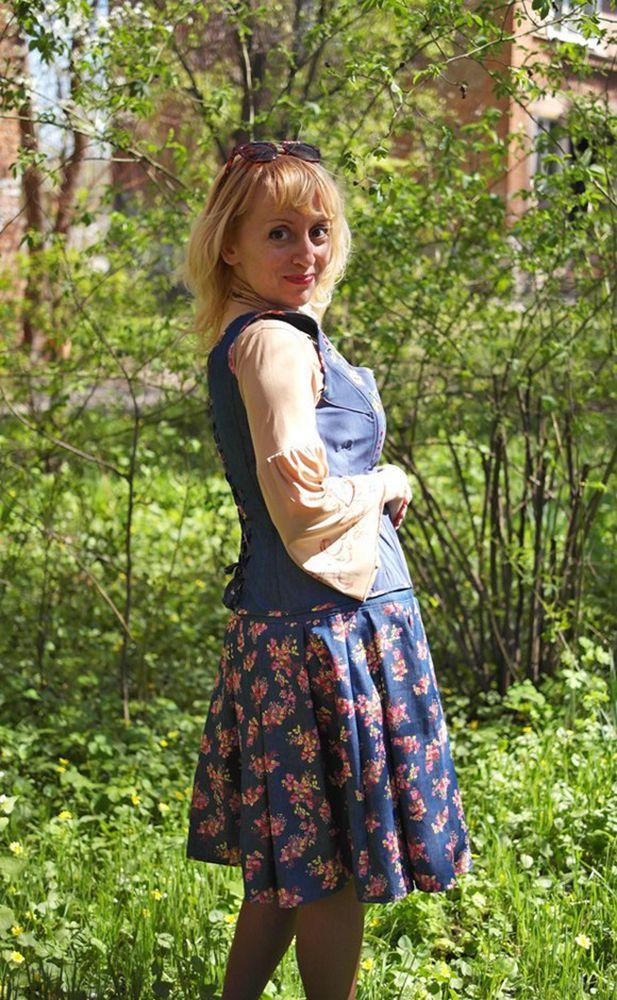 натали шейх, джинсовая одежда