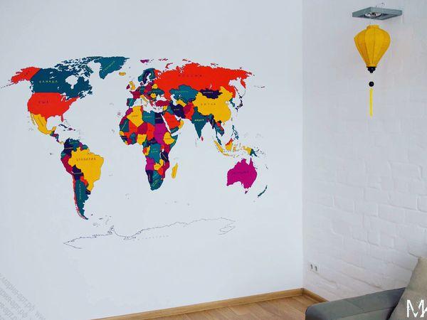 Карта мира | Ярмарка Мастеров - ручная работа, handmade