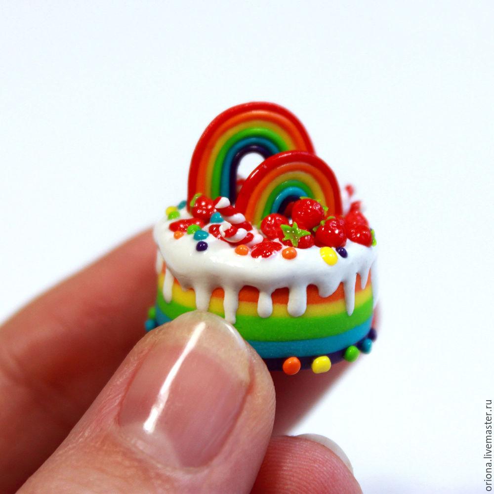 торт, десерт, сладости из пластики, мастер класс