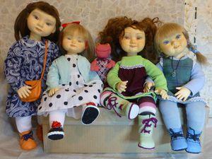Девочки едут в гости | Ярмарка Мастеров - ручная работа, handmade