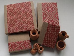 Выкройки упаковки из крафт бумаги. Ярмарка Мастеров - ручная работа, handmade.