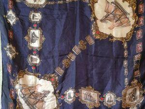 АУКЦИОН: Винтажный шелковый платок