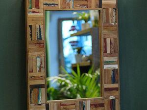 Зеркало в деревянной раме – стильный элемент интерьера. Ярмарка Мастеров - ручная работа, handmade.