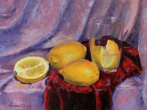 Новая работа! Натюрморт с лимонами!. Ярмарка Мастеров - ручная работа, handmade.