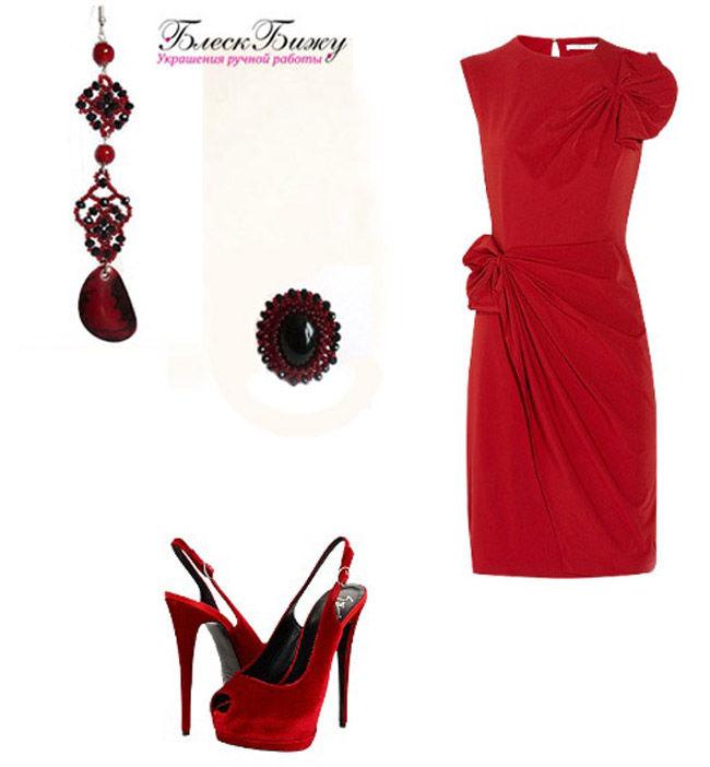 украшения блеск бижу, серьга фламенко, серьга на одно ухо, красный цвет в одежде, психология красного увета