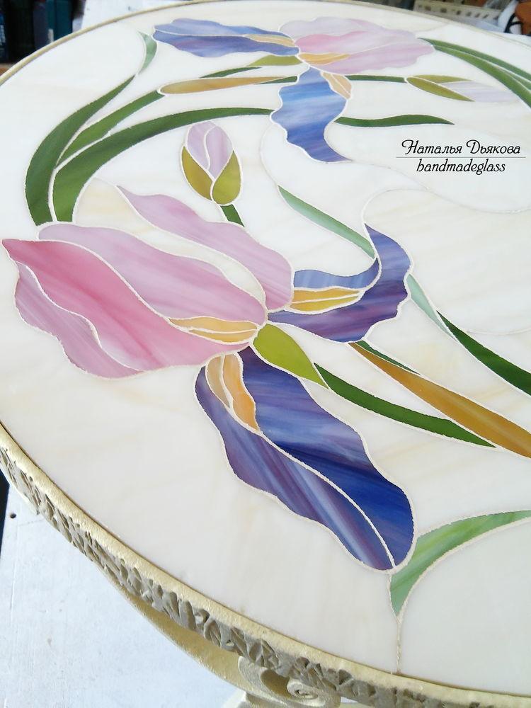 ковка, мозаика, садовая мебель, журнальный столик, мозаичная столешница, для дома и дачи