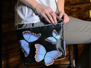 Аукцион одного дня. Кожаный комплект: сумочка+колье! | Ярмарка Мастеров - ручная работа, handmade