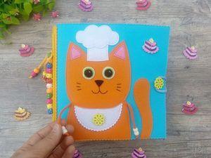 Развивающая книжка Повар для маленьких хозяюшек и будущих шеф-поваров!. Ярмарка Мастеров - ручная работа, handmade.