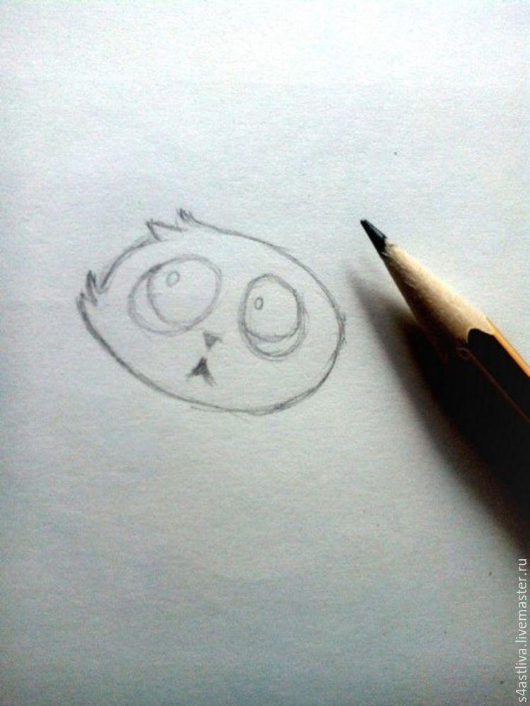 кот, карандаши