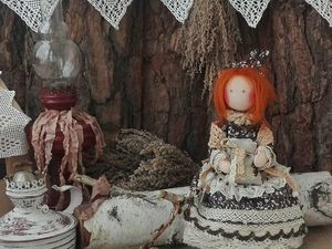 Кофейная домовушечка) Кукла ручной работы. Ярмарка Мастеров - ручная работа, handmade.