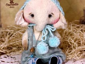 Тедди слоник Крим фотосессия карапузиков. Teddy elephant Cream.. Ярмарка Мастеров - ручная работа, handmade.