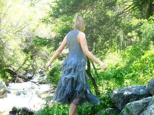 """Юбка """"Средне-серая 49"""" . Натуральный шёлк. Небольшая фото-сессия в горах. Ярмарка Мастеров - ручная работа, handmade."""
