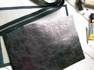 Новый кожаный клатч скоро.. Ярмарка Мастеров - ручная работа, handmade.