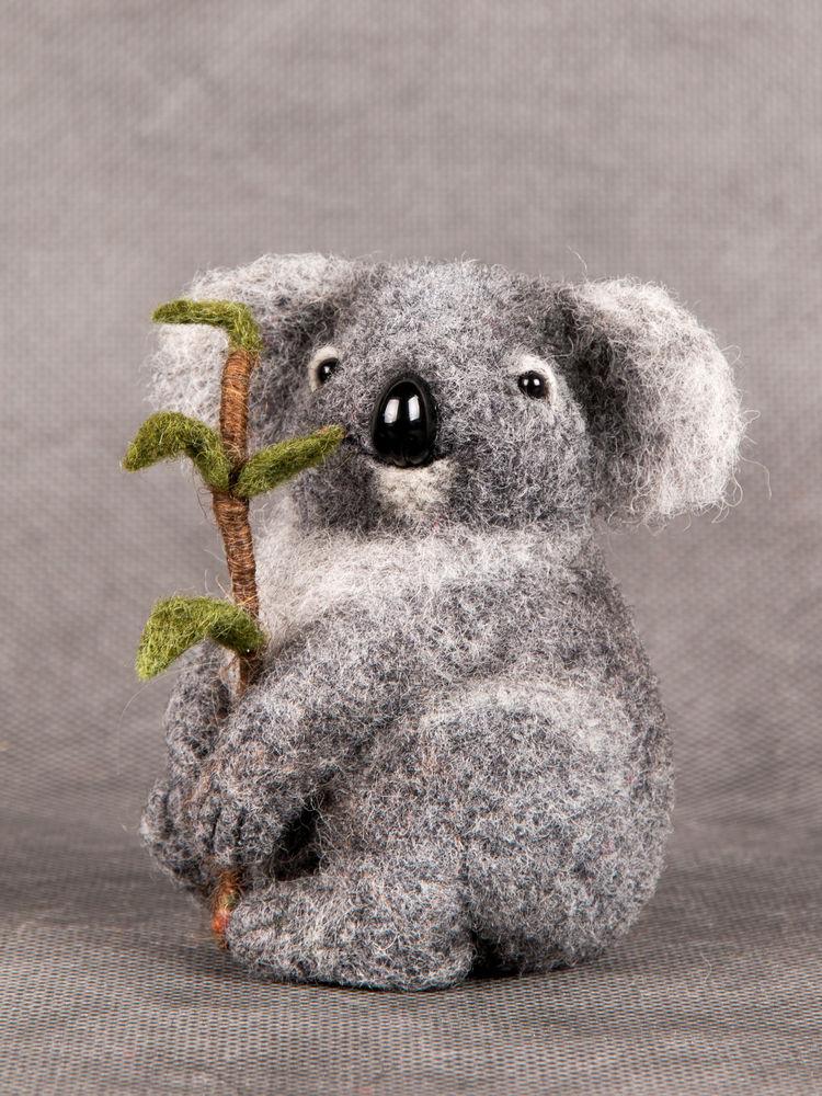 мастер-класс по валянию, коала из шерсти