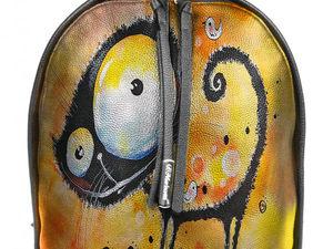 Рюкзаки из кожи с вашим рисунком на заказ ручной работы. Ярмарка Мастеров - ручная работа, handmade.