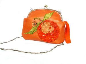 "Сумочка "" Сумасшедший апельсин "" !. Ярмарка Мастеров - ручная работа, handmade."