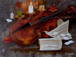 История создания картины Пока горит свеча...   Ярмарка Мастеров - ручная работа, handmade