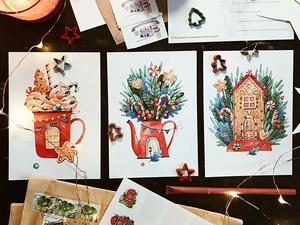 Новогоднее настроение: подборка атмосферных иллюстраций Антонины Ткач. Ярмарка Мастеров - ручная работа, handmade.
