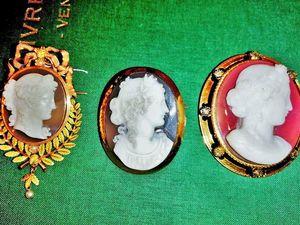 Ещё три изумительные камеи на агате в золоте 18 карат 19 века появились в моём магазине!. Ярмарка Мастеров - ручная работа, handmade.