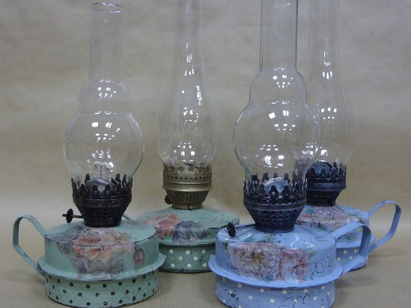 Секреты  кракелюра - однокомпонентный кракелюр. Керосиновая лампа. | Ярмарка Мастеров - ручная работа, handmade