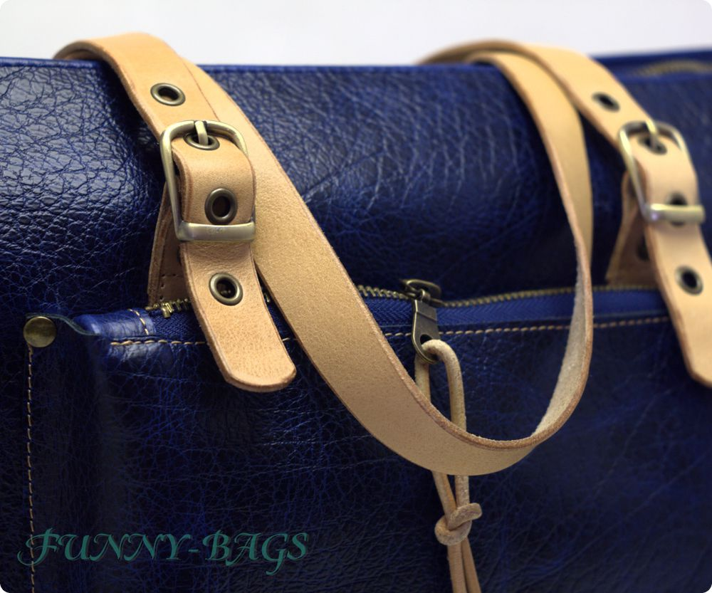 синяя сумка