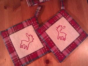 НОВИНКА! Новогодние прихватки в скандинавском стиле уже в продаже!. Ярмарка Мастеров - ручная работа, handmade.