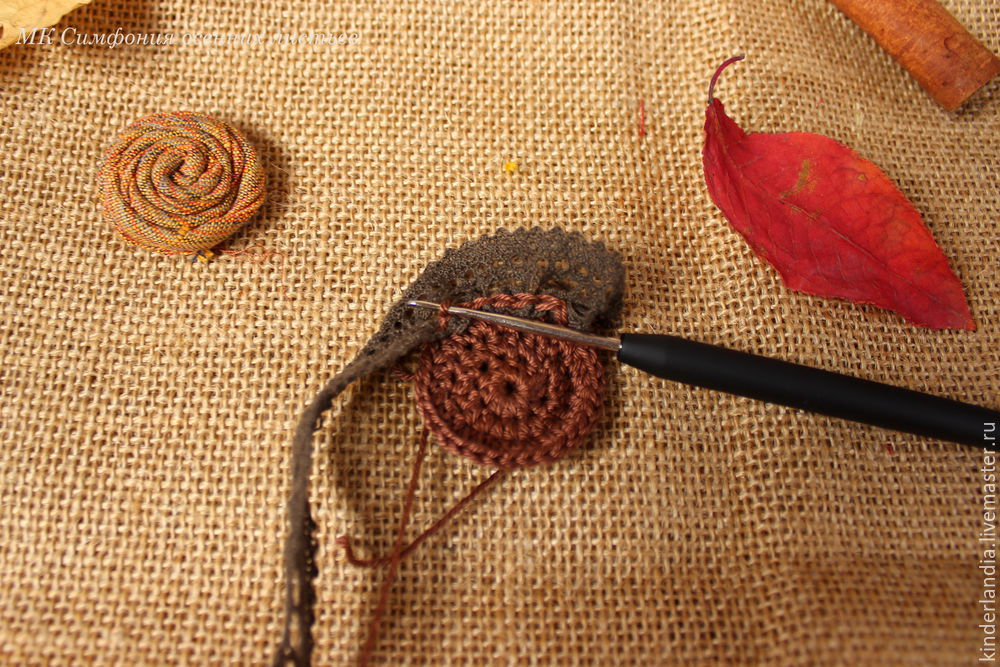 Symphony of Autumn Leaves: Creating a Textile Brooch, фото № 12