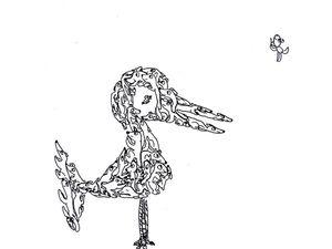 Узоры из собак. Линер. Рисует 5-летняя Юния. Ярмарка Мастеров - ручная работа, handmade.