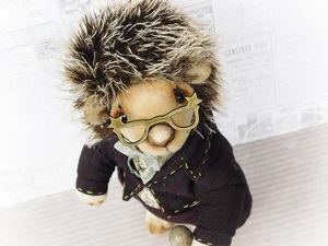 Друзья тедди: Ёжик музыкант. Авторская игрушка, ежик тедди. Ярмарка Мастеров - ручная работа, handmade.
