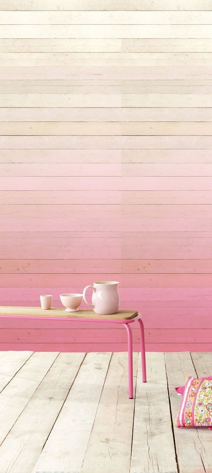 ombre wood wall