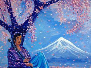 """Новая картина """"Сон самурая"""". Ярмарка Мастеров - ручная работа, handmade."""