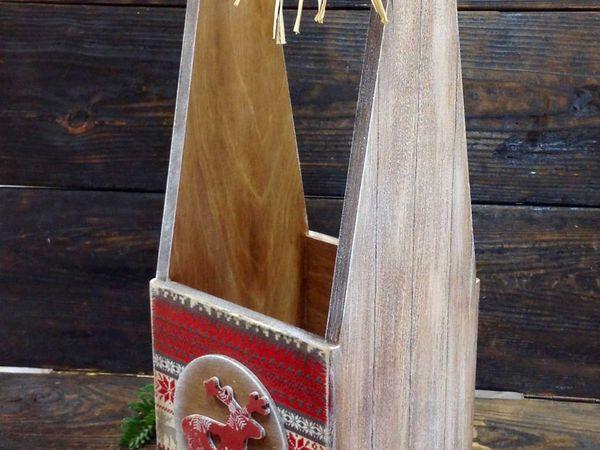 Короб-подставка для вина в скандинавском стиле