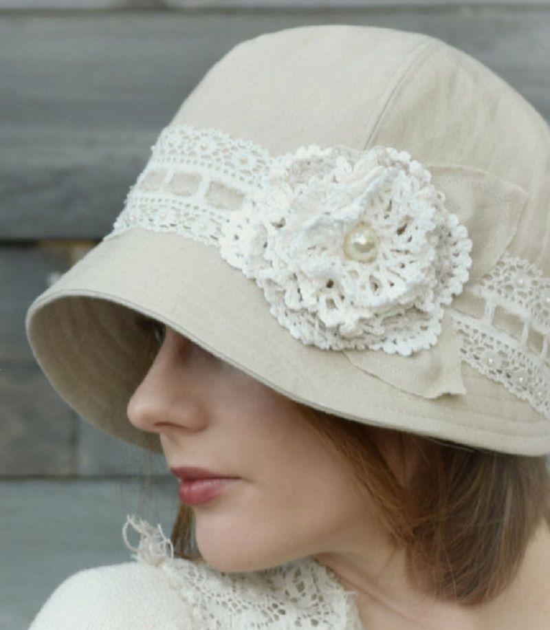 шляпка из ткани