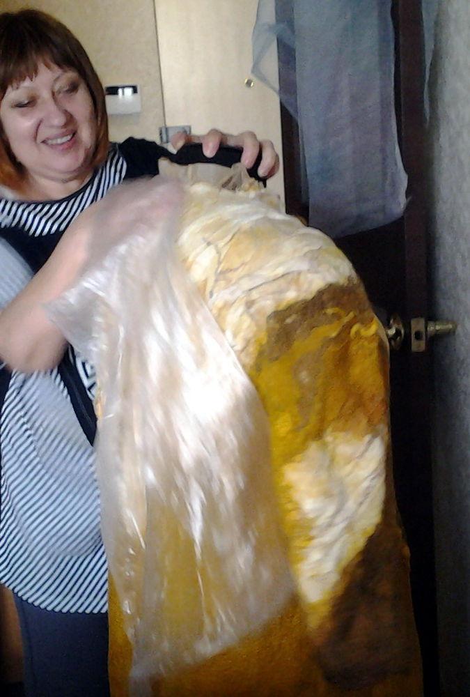 Как мы с Ириной арт-пальто валяли., фото № 8