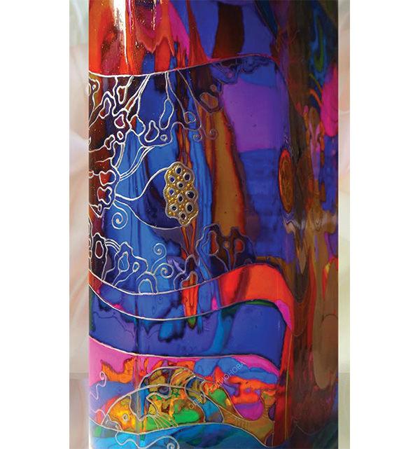 витражная бутылка, винтажная бутылка