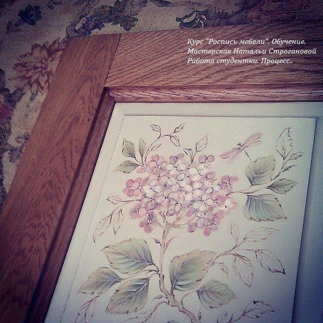 роспись мебели, курс росписи мебели, курс роспись мебели, мебель с росписью, наталья строганова, обучение росписи мебели
