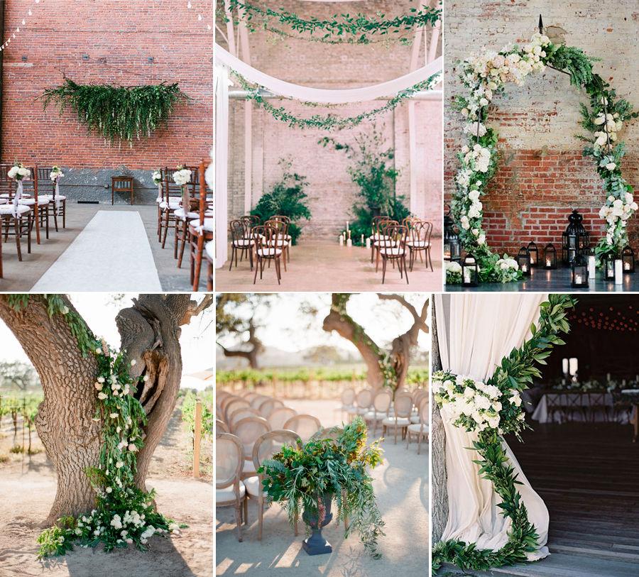 свадебный букет невесты, бело-зеленая свадьба
