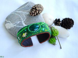 Мастер-класс по созданию браслета «Green grass». Ярмарка Мастеров - ручная работа, handmade.