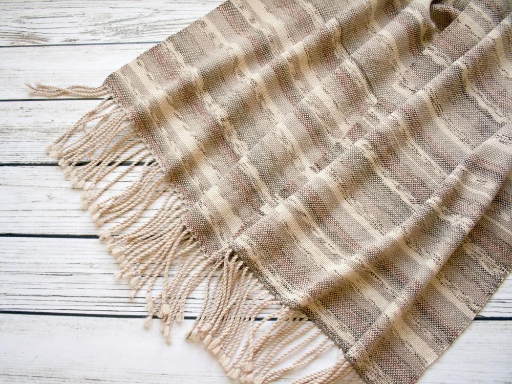 тканый шарф, осенний палантин