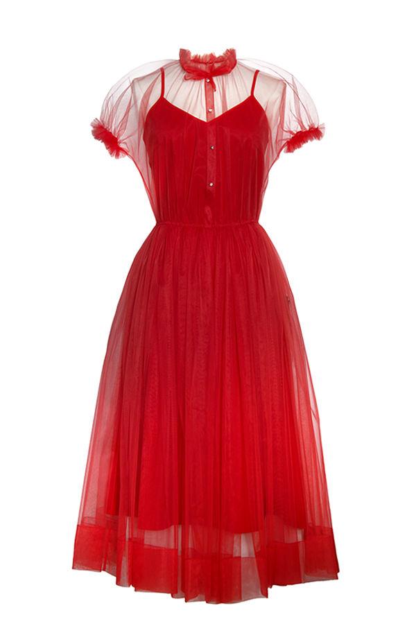 платье, рюши, ретро