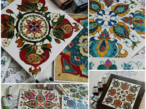 Роспись керамической плитки с Александрой Канарейкиной! Спешите записаться!   Ярмарка Мастеров - ручная работа, handmade