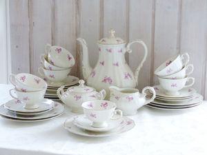 "Krautheim, Чайный сервиз ""Лиловые грёзы"", 1945-77гг. Ярмарка Мастеров - ручная работа, handmade."