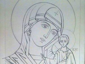 Рукописная икона. Ярмарка Мастеров - ручная работа, handmade.