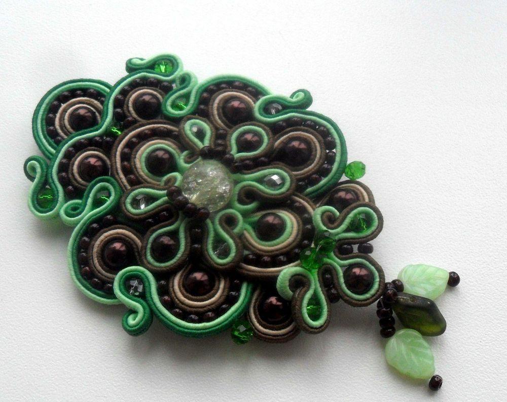 аукцион, зеленый, сутажное украшение