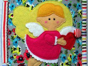 Маленькая книжечка из серии Дорожная  -  Ангелочек с сердечком | Ярмарка Мастеров - ручная работа, handmade