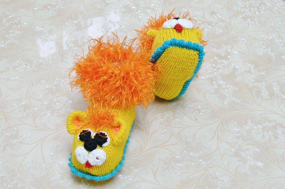 пинетки львята, для детей, обувь ручной работы, сувениры и подарки