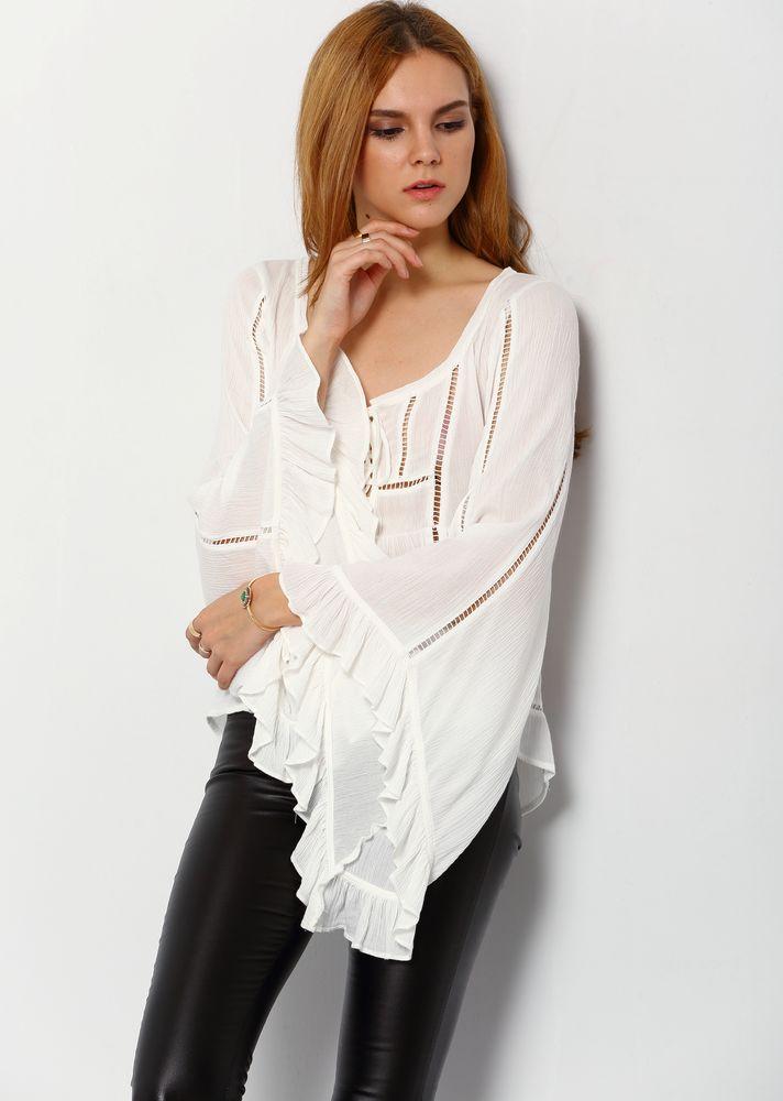 Белое бохо, или Шикарная одежда для королевы летнего пляжа, фото № 102